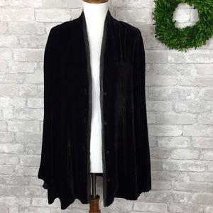 Eileen Fisher Black Velvet Cardigan Size 2X